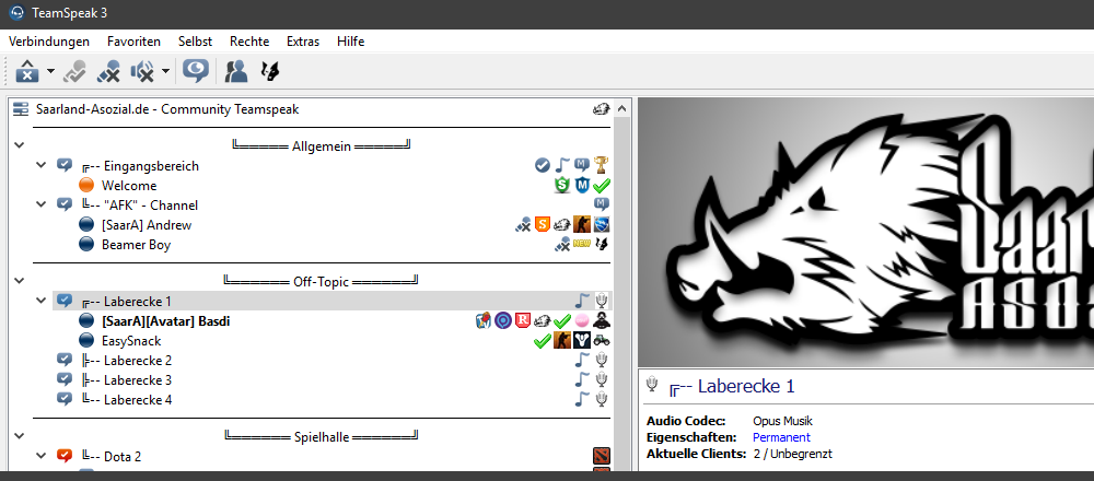 Join our Teamspeak 3 Server